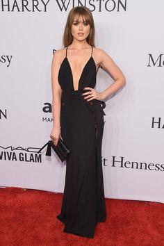 Kristina Bazan in House of CB attends the amfAR  Gala 2016 in New York Fashion Week