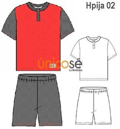 PIJAMA CORTO HOMBRE, MANGA CORTA, CUELLO POLO CON PATA. Polyvore, Fashion, Polo Neck, Sewing Patterns, Underwear, Clothes For Girls, Sleeves, Gifts, Blouses