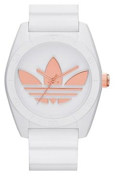 Free shipping and returns on adidas Originals 'Santiago' Silicone Strap Watch, 42mm at Nordstrom.com. Bold style defines this retro-inspired watch that sports an iconic trefoil dial and comfortable silicone strap.