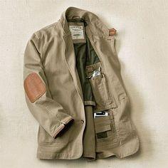 Cotton Twill Travel Jackets for Men / Zambezi Twill Jacket