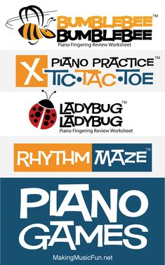 Piano Teaching Ready to ramp up the piano lesson fun! These music theory games drill piano finger numbers, treble and bass clef note names, and basic rhythms. There's even a game that teaches kids how to make piano practice more productive. Music Theory Games, Music Theory Lessons, Music Theory Worksheets, Piano Lessons, Music Games, Fun Music, Music Class, Piano Games, Piano Songs