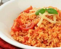 Risotto sauce tomate et parmesan léger : http://www.fourchette-et-bikini.fr/recettes/recettes-minceur/risotto-sauce-tomate-et-parmesan-leger.html