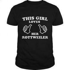 This Girl Loves Her Rottweiler - #linen shirt #street clothing. PURCHASE NOW…