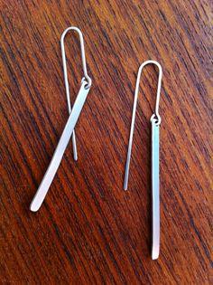 Sterling Silver Tab Earrings