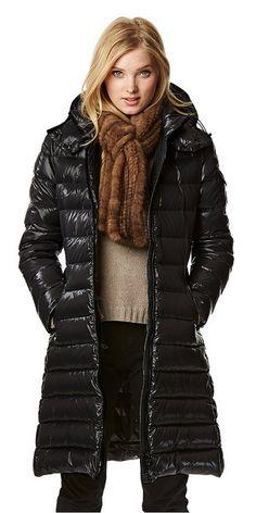 Moncler Jakke Dame Alpin Detachable Fur Trimmed Collar Sort