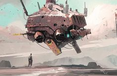 shear-in-spuh-rey-shuhn: IAN MCQUE THU Demo Ship Digital From one science fiction lover to another.