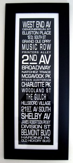Nashville Destination Print by jenwoodhouse on Etsy, $48.00