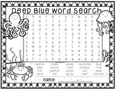 Free Word Search with Ocean Words! Free Word Search, Kids Word Search, School Classroom, Classroom Themes, Shark Activities, Class Activities, Word Seach, Spring Word Search, Ocean Lesson Plans