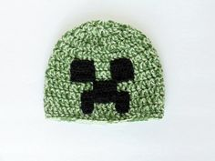 Green Creeper, Minecraft Beanie, Made to Order on Etsy, $18.00