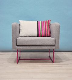 A hot pink base gives a modern armchair pop. #Etsy