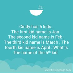 "If you know the answer, don't give it away, just comment ""I know! Four Kids, 5 Kids, Baby Humor, Kid Names, Funny Babies, Two By Two, First Names, Children Names, Baby"