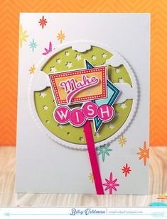 Make A Wish Card by Betsy Veldman for Papertrey Ink (March 2015)