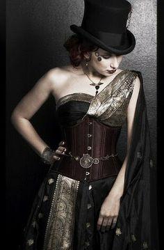 Gothic Glam Saree