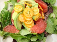 Kumquat Citrus Avocado Salad from Picky Cook