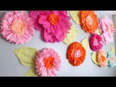 Giant Tissue Paper Flower Tutorial- PART ONE