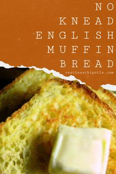 This easy English muffin bread recipe has all of those nooks and crannies and craters of an English muffin but in a quick, no-knead toasting bread loaf. Instructions for bread machine included. English Muffin Bread, Homemade English Muffins, Bread Machine Recipes, Banana Bread Recipes, Cooking Bread, Bread Baking, Crepes, Brunch, Dessert Bread