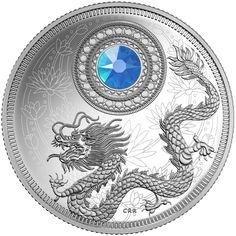 5 dollari Canada 2016. March. Dragon Birthstones: Aquamarine
