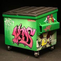dumpster graffiti | Desktop Dumpsters | Designer Vinyl Toys & Art Culture | Clutter ...