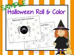 This activity includes 2 Halloween worksheets (color & black/white) for students to practice recognizing numbers and 1-1 correspondence when using a dice. In this activity, students roll one or two dice depending on the game, then color the corresponding number on their worksheet.