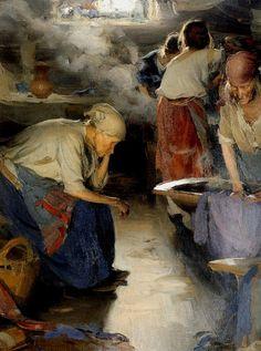 Abram Arkhipov (Абра́м Ефи́мович Архи́пов, 1862-1930)  The Washer Women