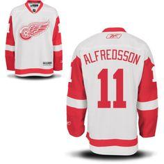 Reebok Detroit Red Wings Men s Premier Away Custom Jersey - White 48d19ea52
