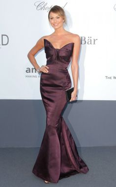 The 66th Cannes Film Festival 2013 Red Carpet, Stacy Keibler wearing Zac Posen