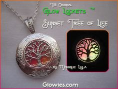 Sunset Tree of Life Glow Locket ™. Starting at $1 on Tophatter.com!