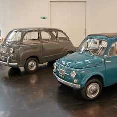 Fiat 600 Multipla and a classic Fiat 500. Love them both. From fiat500_vespa_xavier on Instagram