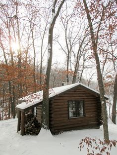 Cabin in the woods! More like this, yes:0  Wish I was there, as far away from people as possible.
