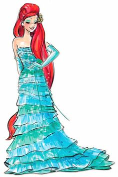 Ariel.... the concept sketch for her designer doll [...wish I could have gotten one :( *sniffle, snifffle *]