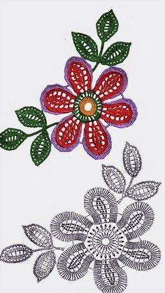 Fabulous Crochet a Little Black Crochet Dress Ideas. Georgeous Crochet a Little Black Crochet Dress Ideas. Freeform Crochet, Crochet Motif, Crochet Doilies, Crochet Flowers, Crochet Lace, Crochet Stitches, Irish Crochet Patterns, Crochet Chart, Love Crochet