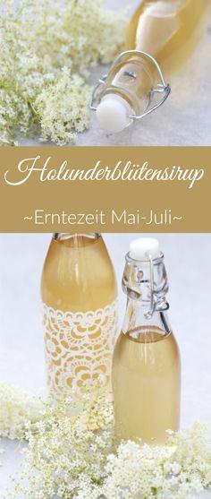 Leckeres Rezept für selbstgemachten Holunderblütensirup mit frischer Zitrone oder Minze. Ideal für Hugo oder erfrischende Limonade