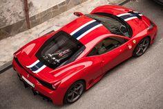 Ferrari 458 - via Classy Bro Ferrari 458, Most Expensive Car, Racing Stripes, Latest Cars, Car In The World, Car Wallpapers, Car Ins, Exotic Cars, Concept Cars