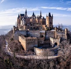 """Hohenzollern castle is nestled in the foothills of the Swabian Alps in Baden-Württemberg, Germany. It is not currently abandoned. Beautiful Castles, Beautiful Buildings, Beautiful Places, Chateau Medieval, Medieval Castle, Gothic Castle, Castle Ruins, Castle House, Abandoned Castles"
