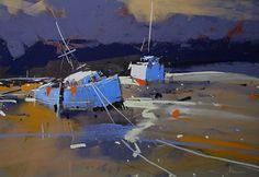 Boat Cove by Tony Allain Pastel ~ 11 x 14