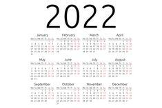 Simple 2022 year calendar, week starts on Monday, EPS 8 vector Printable Yearly Calendar, Free Printable Calendar Templates, Blank Calendar Template, Diy Calendar, Calendar 2018, Weekly Calendar, Creative Calendar, Calendar Design, Monthly Planner
