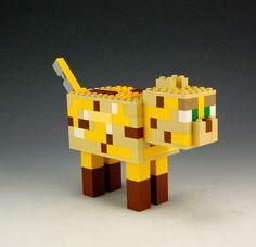 Lego Minecraft Ocelot by BrickBum
