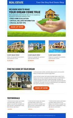 Landing Page Design Templates For Conversion And Sales Converting - Real estate landing page template free