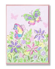 The Kids Room Pastel Butterflies and Flowers Wall Plaque The Kids Room by Stupell http://www.amazon.com/dp/B006NWICTA/ref=cm_sw_r_pi_dp_vbFlub0MGWTYY