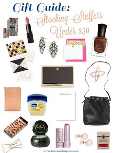 Gift Guide: Stocking Stuffers Under $30 #bowsgg