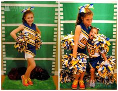 DIY football field backdrop for a photo booth @Double the Fun Parties