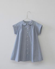 wolfechild: blue Peter Pan collar shirt. I want this in my size!