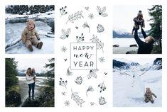 """Die Weihnachtskarte Wintergarten unseres französischen Designer-Kollektivs """"Le Collectif"""" bringt die Herzen Ihrer Familie und Freunde zum Aufblühen. Trotz Schnee und Kälte schaffen es doch einige schöne ..."""