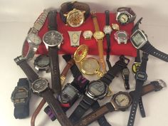 Watch Lot For Parts Or Repair- Stuhrling-Fossil-Casio-Timex Indiglo-Lorus