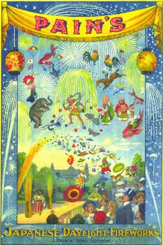 J.Pain's vintage firework poster