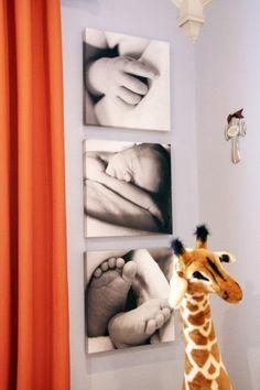 cute baby photos on canvas