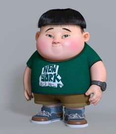 ArtStation - a fat boy, zhan changyu Fat Character, Zbrush Character, Character Poses, Character Concept, Cute Cartoon Boy, Cartoon Man, Cartoon Kids, Fat Cartoon Characters, Disney Pixar
