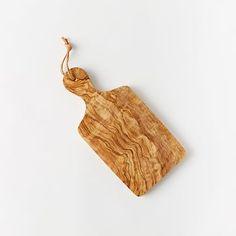 Olive Wood Paddle Cutting Board #westelm