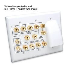 Vanco Whole House Audio 6.2 & 7.2 Home Theater Wall plates