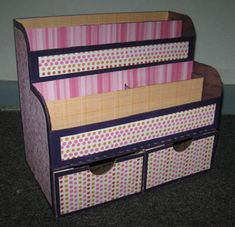 Severina Snape's Gallery: My Homemade Desk Organizer: After